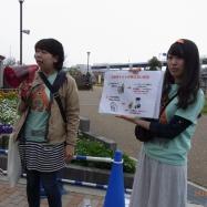 公園設備ツアーではクイズと解説を行い、正解者にはバッジを贈呈!