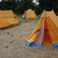 6年性の子どもたちはグラウンドで宿泊です!