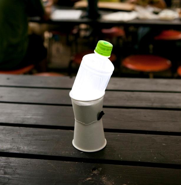 LEDペットボトルランタン