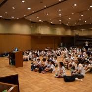 開会式が始まり青年会議所の挨拶とキャンプの説明です